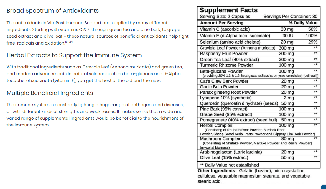 Supplements for overactive immune system